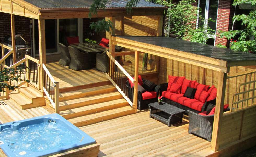 construction patio cl ture en bois montreal patios et cl tures beaulieu. Black Bedroom Furniture Sets. Home Design Ideas