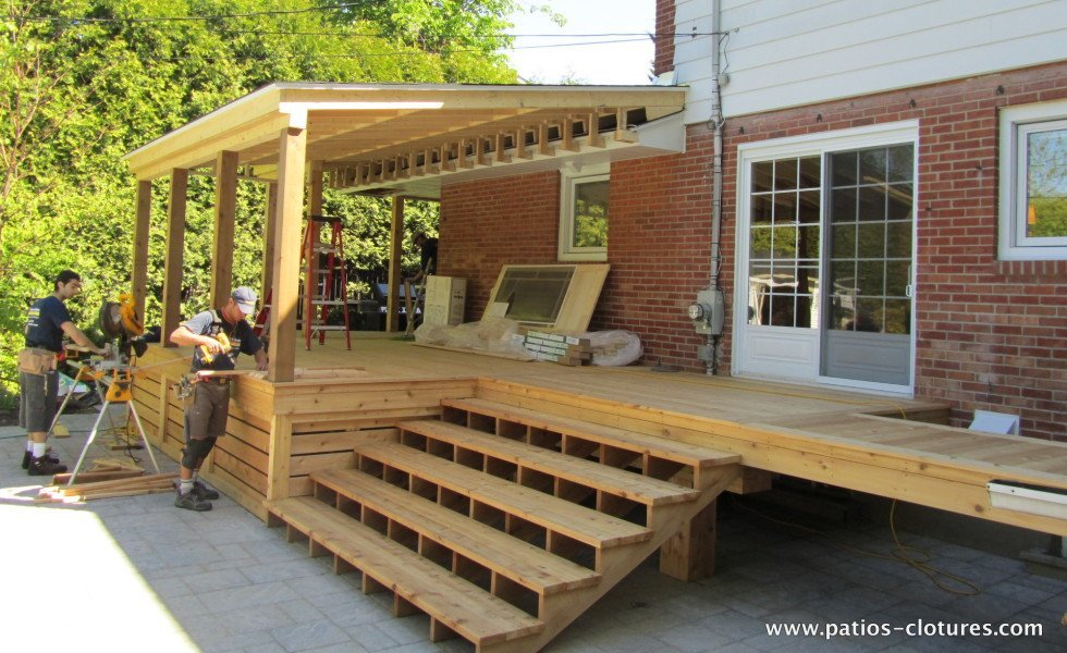 Construction of multifunctional deck Black