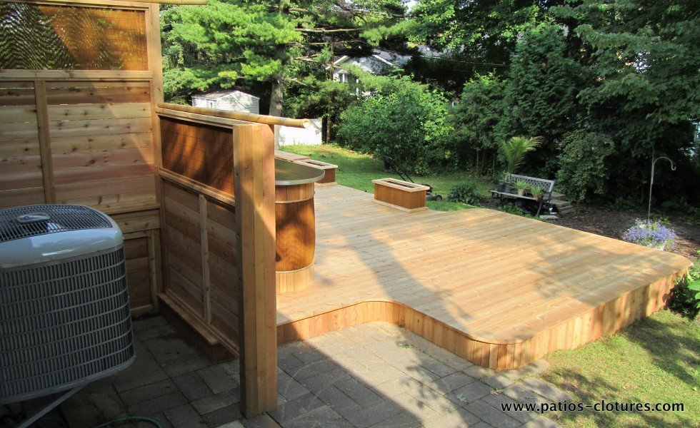 Red cedar deck Villaruel 4