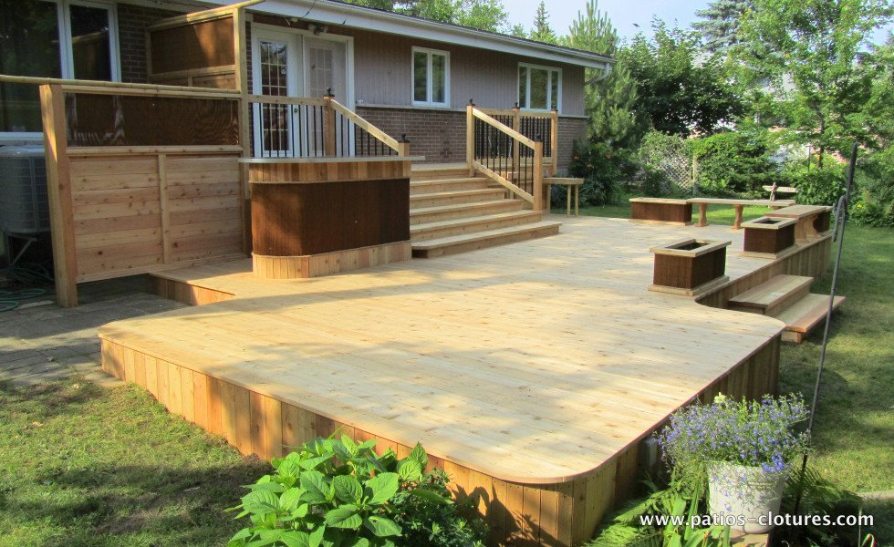 Red cedar deck Villaruel 3