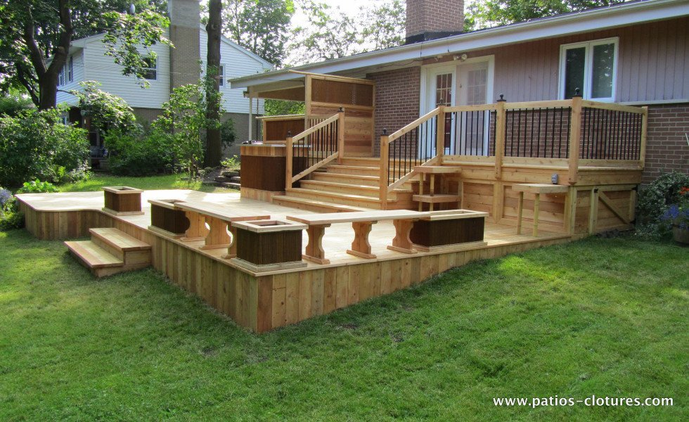 Red cedar deck Villaruel 2