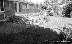 patio avec courbes Villaruel avant 2