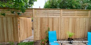 Vertical palissade and horizontal top fence