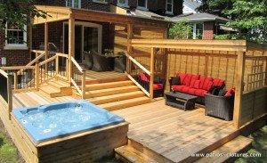 Coin repas et lounge du patio avec polycarbonate Proulx