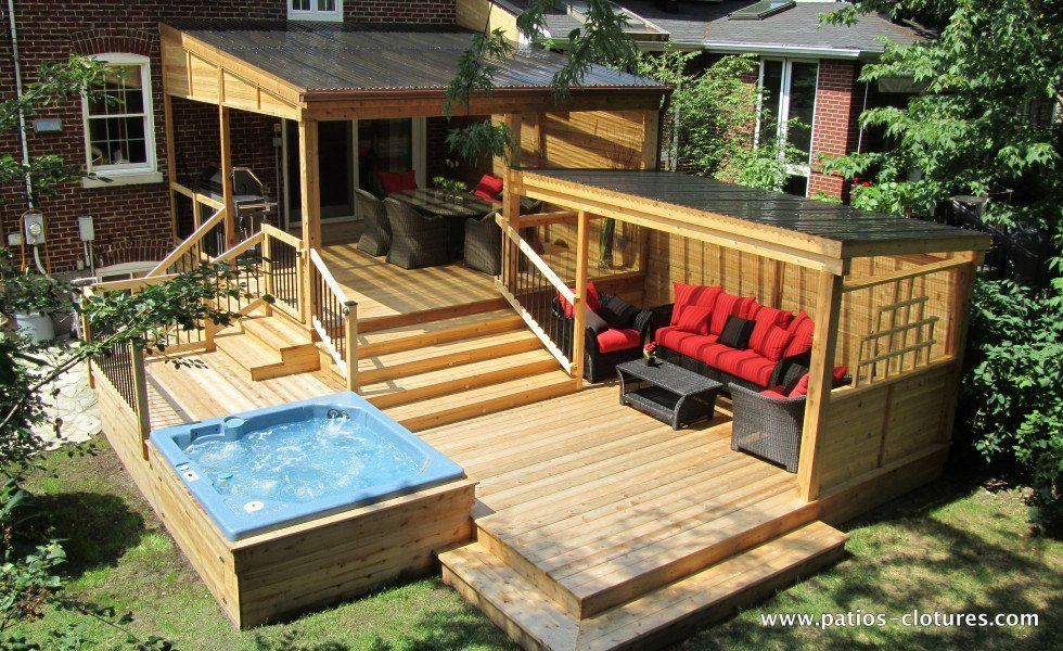 Deck proulx patios et cl tures beaulieu for Cloture de piscine hors terre