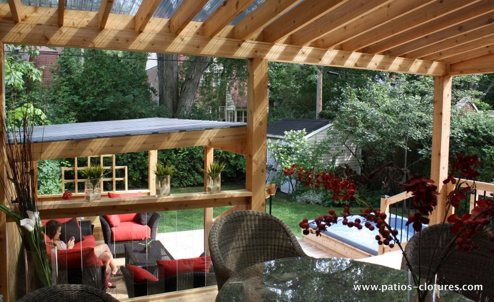 Patio proulx patios et cl tures beaulieu - Pergola toit polycarbonate ...