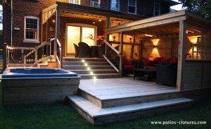 Lumières LED de patio avec polycarbonate Proulx