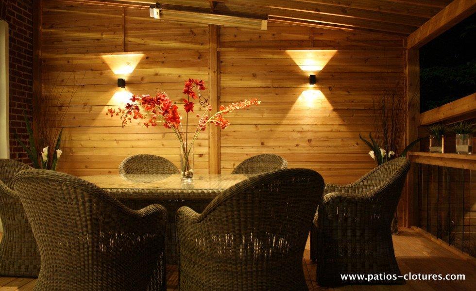 Lumières LED de patio avec polycarbonate Proulx 2
