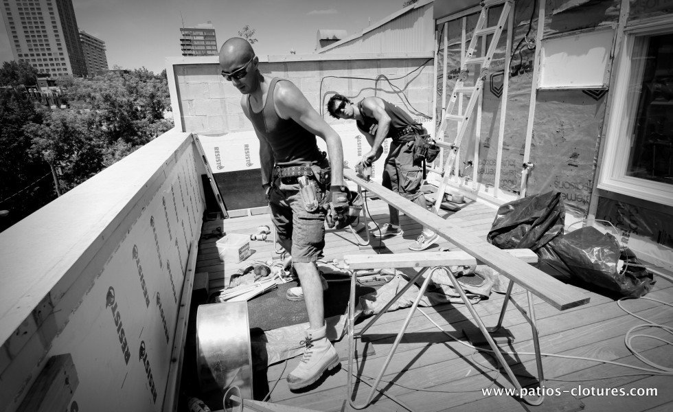 Building a rooftop terrace in Ipe Coquereau 2