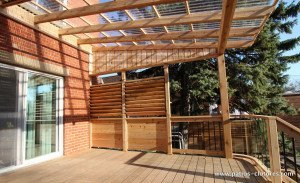 Pergola with polycarbonate Pinet 2