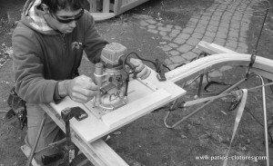 Construction de rampe de patio courbée avec verre trempé Pinet 2