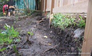 excavation mur de soutènement en bois Jost 1