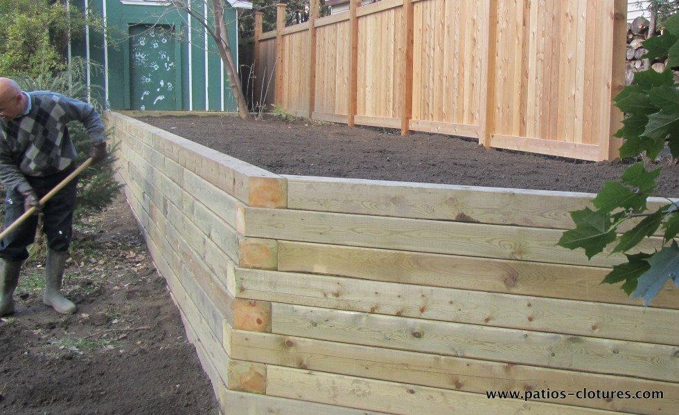 Wooden retaining wall Jost