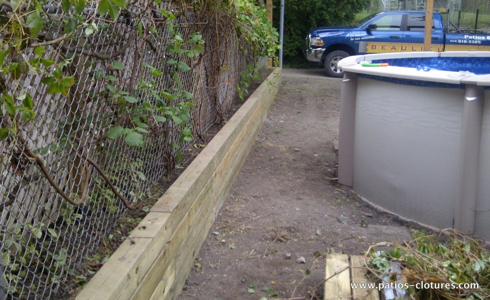 mur de soutènement en bois Verret 1