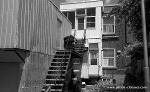 Patio deux étages Baril - avant
