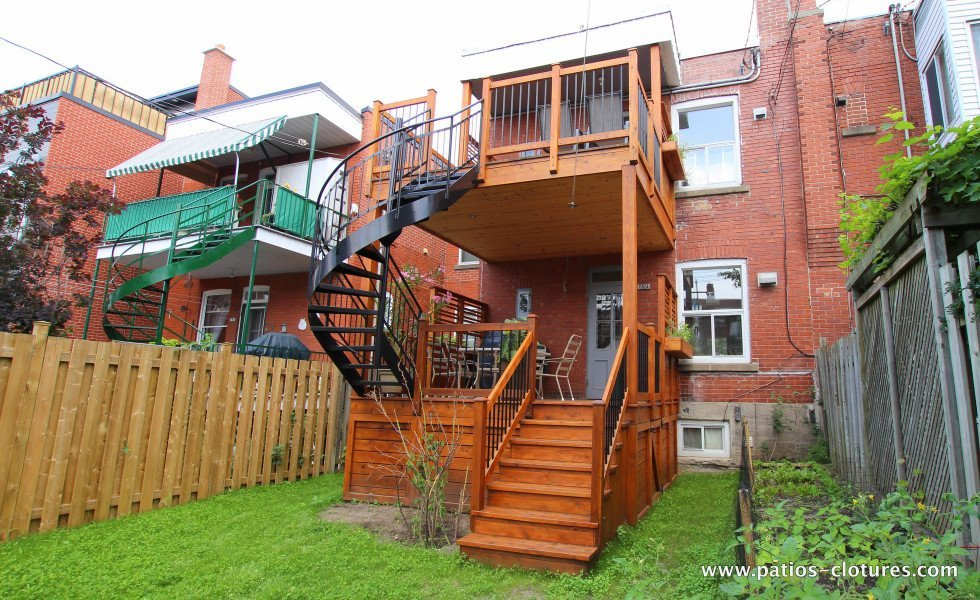 Two-story deck Baril 3