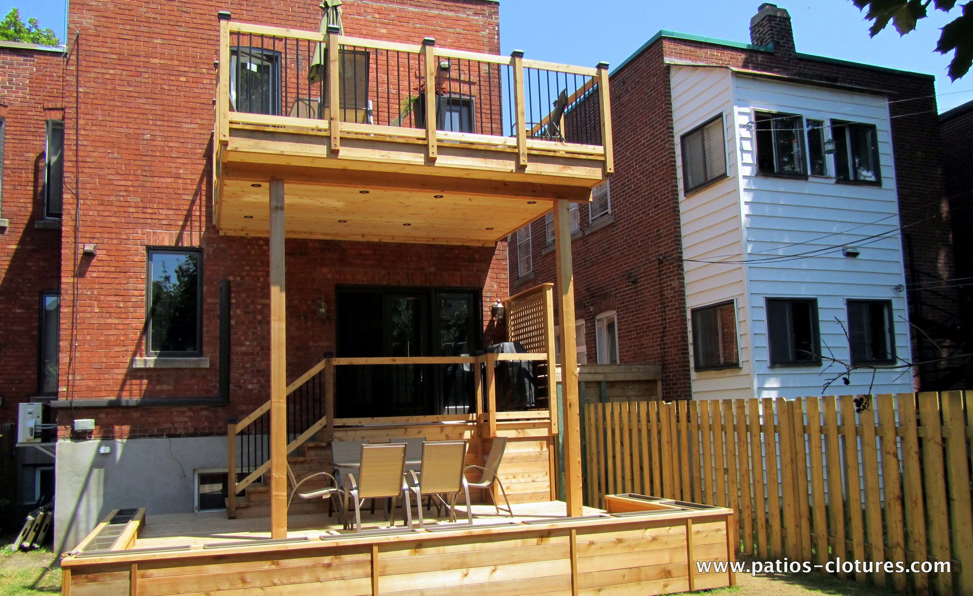 Two Story Deck Marquis Patios Et Cl 244 Tures Beaulieu