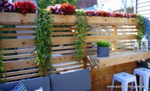Privacy screen on a rooftop terrace Boivin