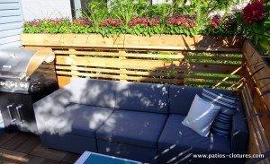 Écran d'intimité pour terrasse sur le toit Boivin 2