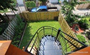 Escalier colimaçon pour patio deux étages Baril - 8