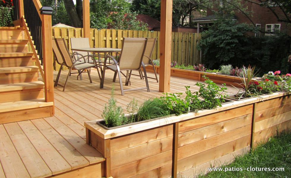 Patio deux tages marquis patios et cl tures beaulieu - Couleur de teinture pour patio ...