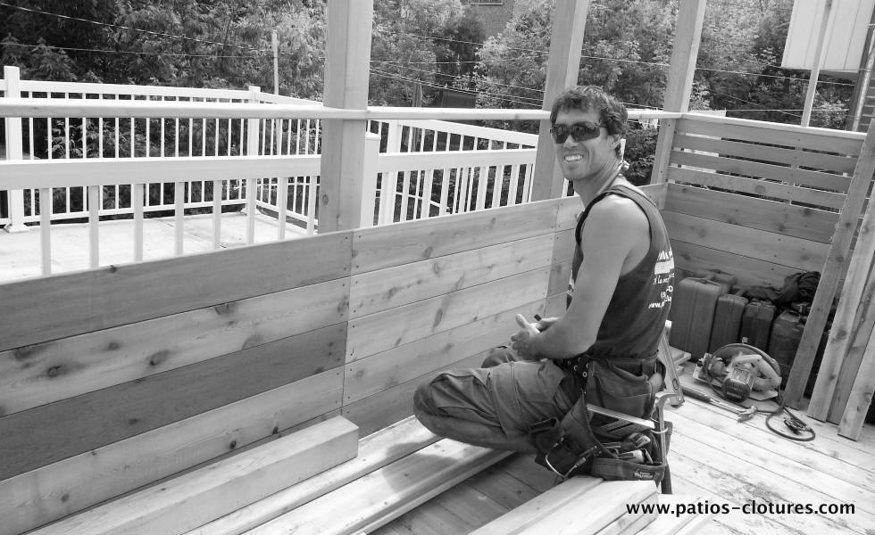 Construction terrasse sur le toit à Montréal Doucet