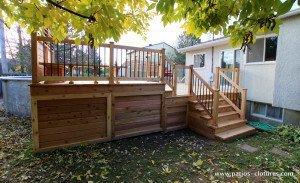 patio de piscine hors terre Brunelle 6