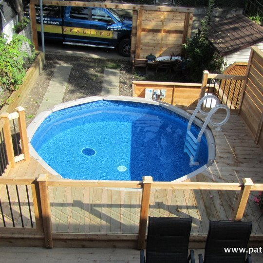 Above-ground pool deck Verret 2