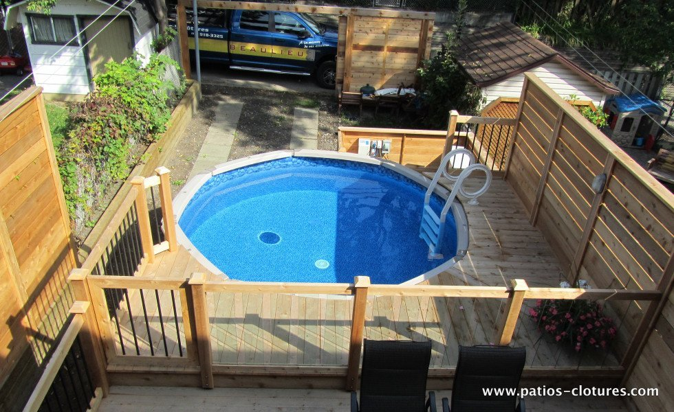 Patio verret patios et cl tures beaulieu for Cloture pour piscine hors sol