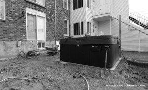 base de spa patio avec spa Brouillette - avant 6