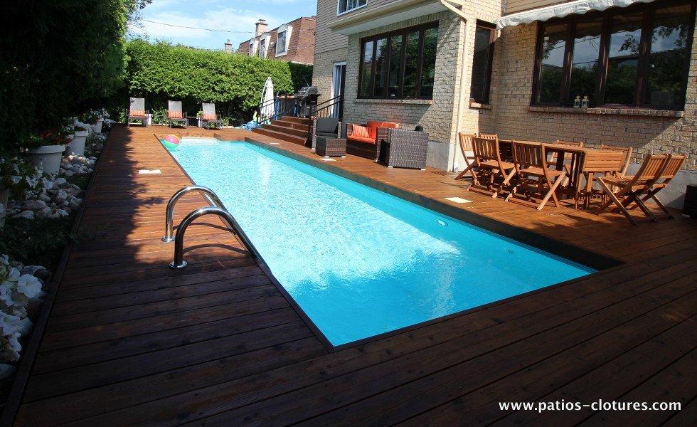 Red cedar wood deck around in-ground pool Riachy 2