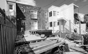 construction patio avec spa Brouillette - avant 8
