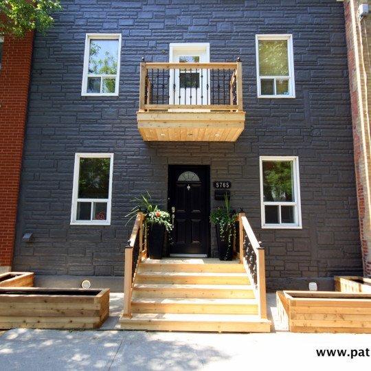 Balcons en cèdre à Montréal Picard 1