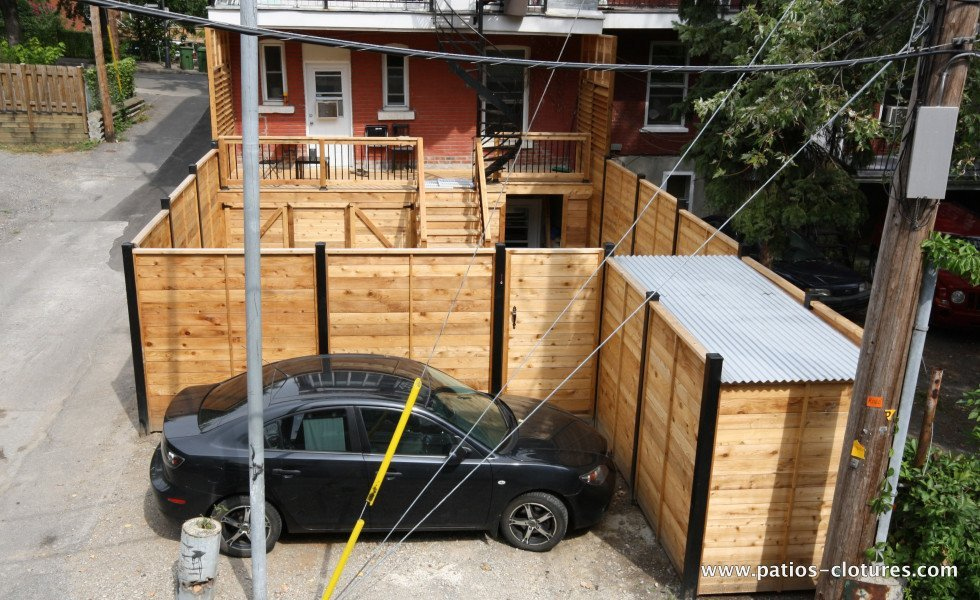 Backyard makeover in Montreal Dalpé