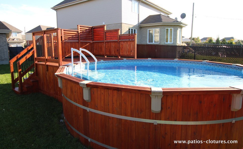 Deck isabelle patios et cl tures beaulieu for Pool terre pour piscine
