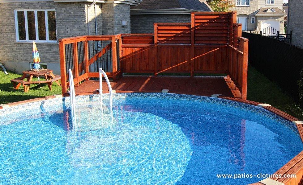 Terrasse avec piscine hors terre images for Piscine rectangulaire hors terre