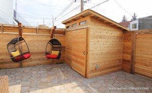 cabanon avec porte coulissante patio Brouillette - 1