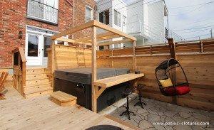 patio avec spa Brouillette - 3