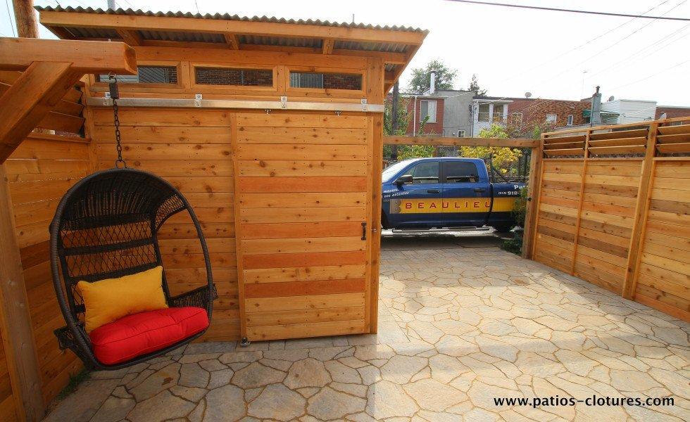 stationnement dans la cour patio Brouillette - 8