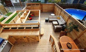 deck with hot tub Brouillette 1