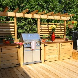 Patio avec cuisine exterieure Stephan Beaulieu Patios Clotures