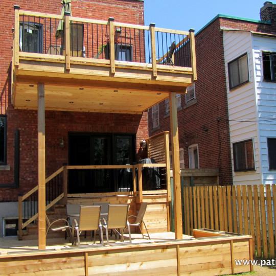 Patio deux étages Marquis