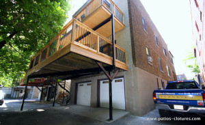 Video du patio deux étages avec structure en acier Kobelt