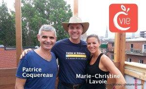 Patrice Coquereau, Stéphan Beaulieu et Marie-Christine Lavoie (émission Design V.I.P. / Canal Vie)
