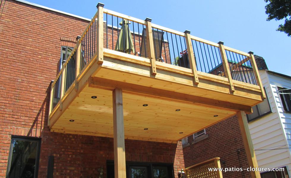 Plafond d'un patio deux étages Marquis