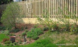 mur de soutènement en bois Stevenson 1