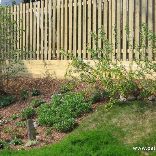 wooden retaining wall Stevenson