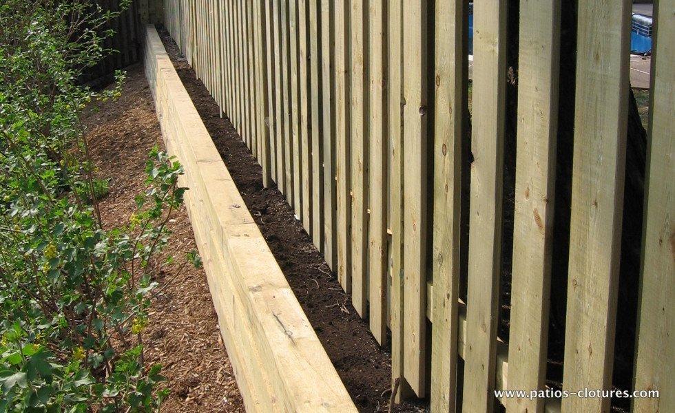 wooden retaining wall Stevenson 2