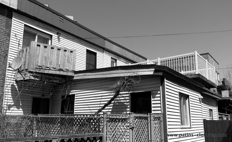 Terrasse sur le toit à Montréal Doucet - avant 2
