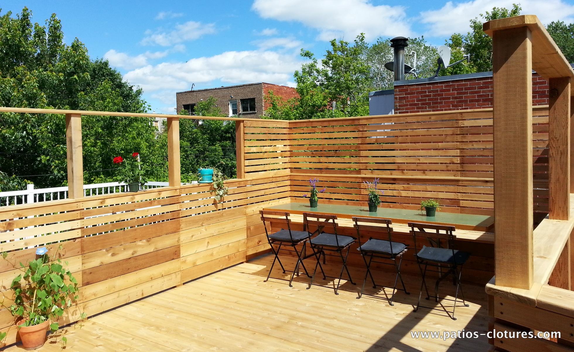 terrasse sur le toit doucet patios et cl tures beaulieu. Black Bedroom Furniture Sets. Home Design Ideas